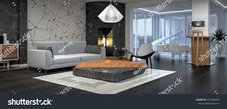 modern interior design living room 3d stock illustration 427382566