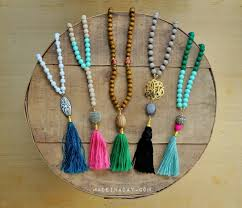 tassel necklace bead images Diy capped tassels jpg