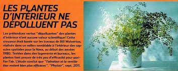 plantes d駱olluantes chambre où l on reparle de l arnaque commerciale des listes de plantes