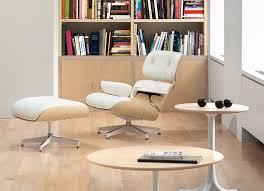 White Chair With Ottoman Hermanmiller Eames Lounge Chair Ottoman White Ash The