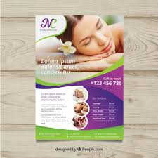 for a poster for a spa center with a photo vector free