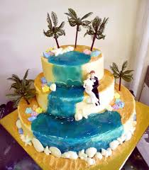 Tropical Themed Cake - refresh your wedding with tropical wedding cakes u2014 marifarthing blog