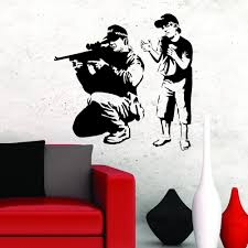 banksy wall stickers decals fast free uk delivery page 2 banksy wall sticker sniper boy vinyl mural decal v c designs ltd