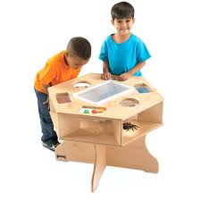 wooden activity table for kids wooden activity table craft science activity table for kids