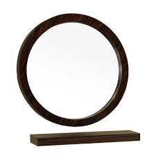 ls plus round mirror foremost ashburn 24 in x 31 in wall mirror in mahogany asgm2431
