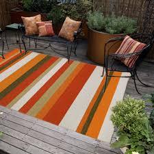 Outdoor Mats Rugs by Ravella Stripe Orange Outdoor Rug Dfohome