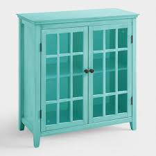 World Market Hutch Antique Turquoise Double Door Storage Cabinet World Market