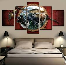 wall ideas 5 pieces clouds flying dragon men modern home wall