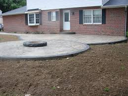 Concrete Fire Pits by Grey Stamped Concrete Walkway And Fire Pit Stamped Ohio Concrete