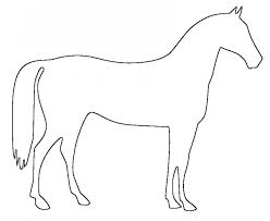 easy outlines of animals horse template animal templates free premium templates