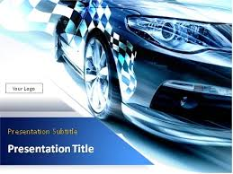 powerpoint themes free cars download sport car with checkered flag powerpoint template