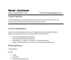 Resume Examples For Free by Simple Resume Objective Samples Gallery Creawizard Com