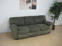 green microfiber sofa by ashley furniture thumbnail africa