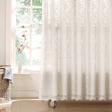 Eyelet Shower Curtains White Curtains Off White Shower Curtain Lace Shower Curtains Rose
