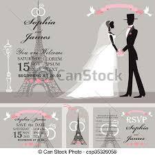 eiffel tower wedding invitations wedding invitation set retro groom eiffel tower clipart