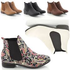 womens pixie boots uk womens low heel flat chelsea vintage pixie booties