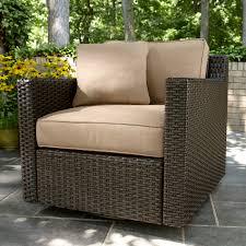 Agio Wicker Patio Furniture - agio international bhh01823 moore haven woven glider neutral