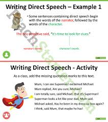 using quotation marks in narrative writing powerpoint teaching