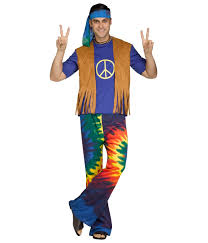 spirit halloween costumes for men groovy hippie mens costume hippie costumes
