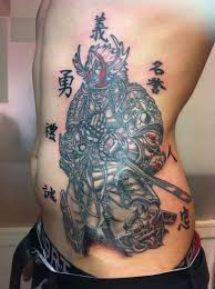 beautiful geisha japanese tattoo design on ribs tattooshunter com