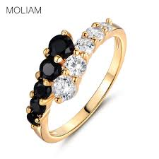 classic rings images Moliam fashion classic rings for women gold color white black jpg