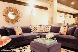 Blue Velvet Sectional Sofa by My Blue Velvet Sectional Obsession Addison U0027s Wonderland