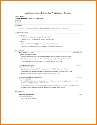Sample Resume For Software Engineer With Experience In Java by Resume Cvs Espanol Cv Web Developer What Should Be In A Resume