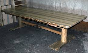 Log Dining Room Tables Log Dining Table Log Trestle Table