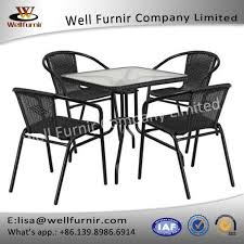 Rattan Bistro Chairs Well Furnir Z015 5 Pieces Rattan Bistro Chairs Suppliers And