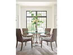 lexington dining room riviera 60 inch stainless dining table 732