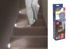 floor l with light sensor led stair lights set of 3 motion sensor stair lights hallway light
