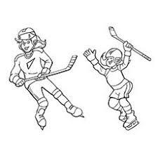 girls hockey coloring sheet printable definitely printing for soph