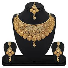 gold plate necklace images Buy reeva gold plated zinc traditional necklace sets for women jpg