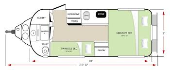 20 Foot Travel Trailer Floor Plans Legacy Elite Ii Travel Trailer Oliver Travel Trailers