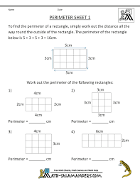 math worksheets 4th grade area perimeter 4 math pinterest