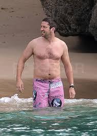 photos gerard butler shirtless spending new year barbados jpg