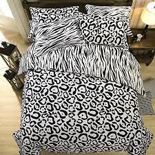 Leopard Print Duvet Leopard Print Black And White Bedding Bedding Bed Linen