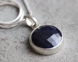 sapphire sterling silver necklace images Buy blue sapphire necklace sapphire sterling silver handmade jpg