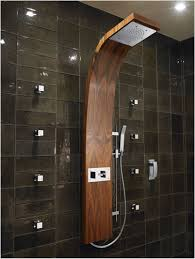 bathroom corner shower ideas brown tile wall decors unique