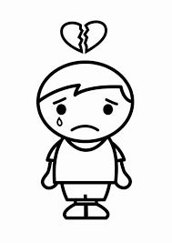 imagenes de amor para la tristeza dibujo para colorear tristeza de amor img 24800
