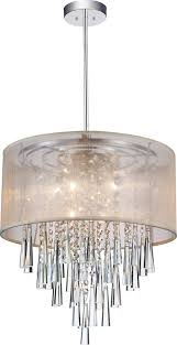 Drum Shade Chandelier Lighting 6 Light Chrome Drum Shade Chandelier From Our Renee Collection