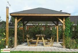 tonnelle de jardin en bois tonnelle kiosque en bois autoclave 347x347cm solid