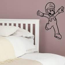 large mario bros louigi childrens bedroom wall mural sticker childrens wall art sticker