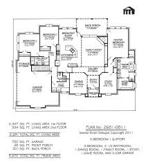 3 Bedroom House Plans With Basement Plan No 2681 0811