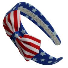 wholesale hair accessories american flag and stripes wide headband hair accessories