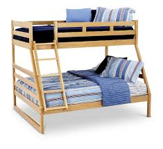 casual oak twin over full bunk hom furniture casual oak twin over full bunk