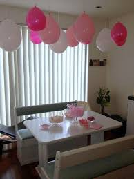 Pink Balloon Decoration Ideas Floating Balloons From The Ceiling Party Idea Play And Go