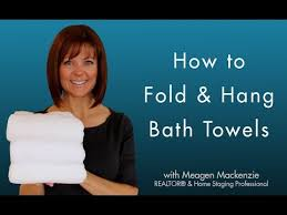 towel folding ideas for bathrooms how to fold hang bath towels like a spa