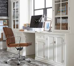 office cabinets with doors logan small office suite with cabinet doors pottery barn
