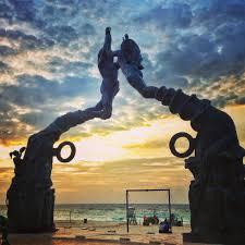 playa del carmen mexico entrance to beach area playa del